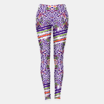 Abstract animal print colorful Leggings thumbnail image