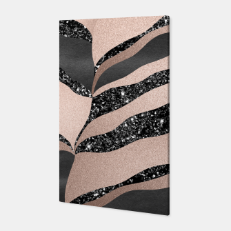 Thumbnail image of Desert Night Glam Stripes #1 #wall #decor #art Canvas, Live Heroes
