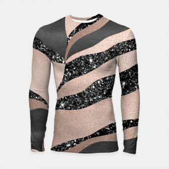 Thumbnail image of Desert Night Glam Stripes #1 #wall #decor #art Longsleeve rashguard, Live Heroes