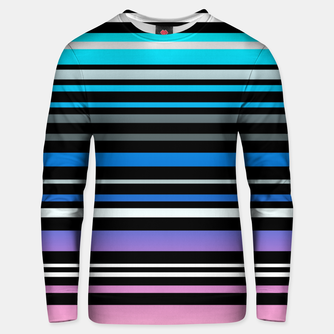 Image of Simple striped pattern, simple, striped Unisex sweater - Live Heroes