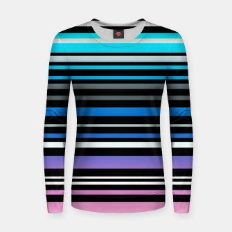 Thumbnail image of Simple striped pattern, simple, striped Women sweater, Live Heroes