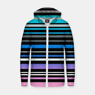Simple striped pattern, simple, striped Zip up hoodie thumbnail image