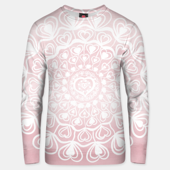 Thumbnail image of Heart Mandala on Blush Pink Watercolor #1 #decor #art Unisex sweatshirt, Live Heroes