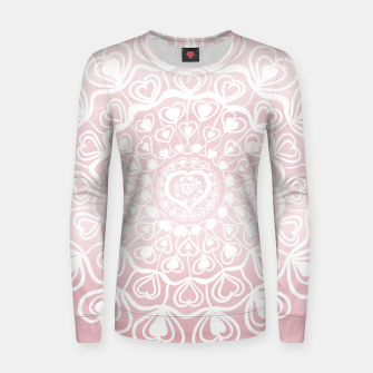 Thumbnail image of Heart Mandala on Blush Pink Watercolor #1 #decor #art Frauen sweatshirt, Live Heroes