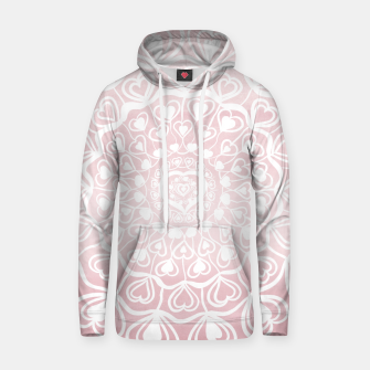 Heart Mandala on Blush Pink Watercolor #1 #decor #art Kapuzenpullover thumbnail image