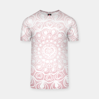 Heart Mandala on Blush Pink Watercolor #1 #decor #art T-Shirt thumbnail image