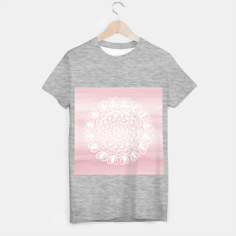 Heart Mandala on Blush Pink Watercolor #1 #decor #art T-Shirt regulär thumbnail image