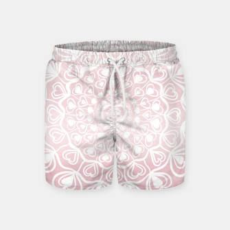 Heart Mandala on Blush Pink Watercolor #1 #decor #art Badeshorts thumbnail image