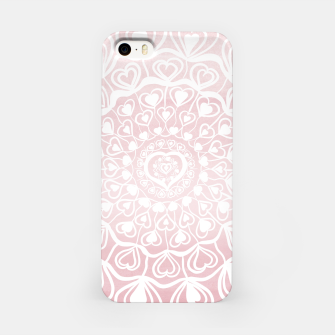 Thumbnail image of Heart Mandala on Blush Pink Watercolor #1 #decor #art iPhone-Hülle, Live Heroes