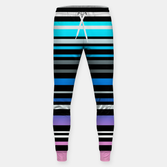 Thumbnail image of Simple striped pattern, simple, striped Sweatpants, Live Heroes