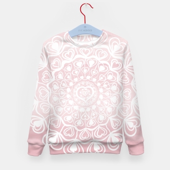 Heart Mandala on Blush Pink Watercolor #1 #decor #art Kindersweatshirt thumbnail image