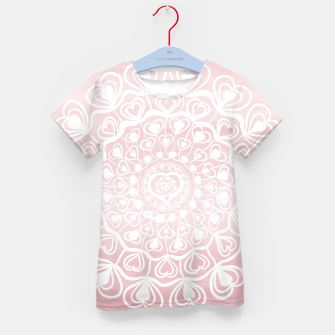 Heart Mandala on Blush Pink Watercolor #1 #decor #art T-Shirt für kinder thumbnail image