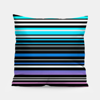 Simple striped pattern, simple, striped Pillow thumbnail image