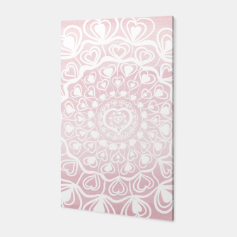 Heart Mandala on Blush Pink Watercolor #1 #decor #art Canvas thumbnail image