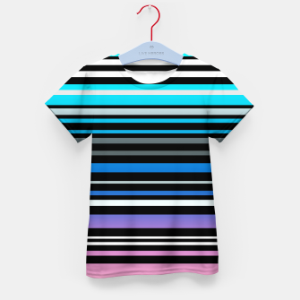 Thumbnail image of Simple striped pattern, simple, striped Kid's t-shirt, Live Heroes