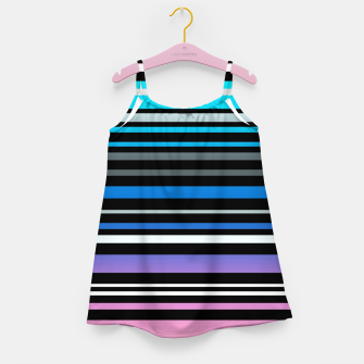 Simple striped pattern, simple, striped Girl's dress thumbnail image