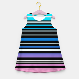 Simple striped pattern, simple, striped Girl's summer dress thumbnail image