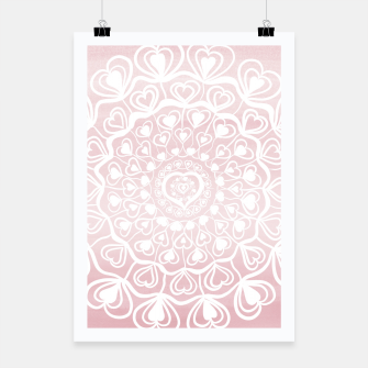 Heart Mandala on Blush Pink Watercolor #1 #decor #art Plakat thumbnail image