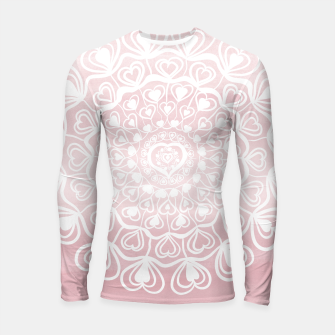 Thumbnail image of Heart Mandala on Blush Pink Watercolor #1 #decor #art Longsleeve rashguard, Live Heroes