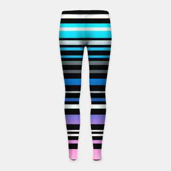 Thumbnail image of Simple striped pattern, simple, striped Girl's leggings, Live Heroes