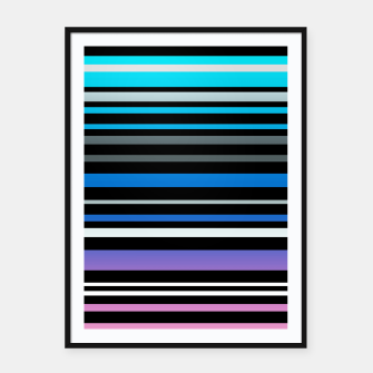 Simple striped pattern, simple, striped Framed poster thumbnail image
