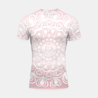 Heart Mandala on Blush Pink Watercolor #1 #decor #art Shortsleeve rashguard thumbnail image