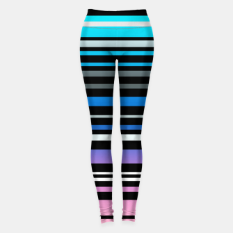 Thumbnail image of Simple striped pattern, simple, striped Leggings, Live Heroes