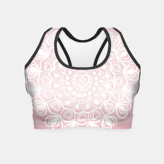 Thumbnail image of Heart Mandala on Blush Pink Watercolor #1 #decor #art Crop Top, Live Heroes