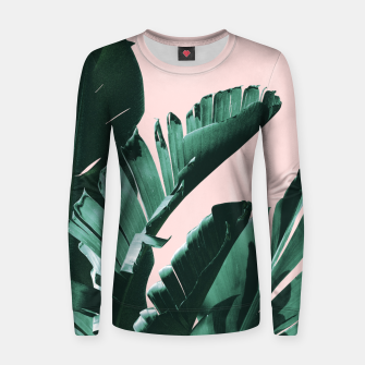 Thumbnail image of Banana Leaves Finesse #3 #tropical #decor #art  Frauen sweatshirt, Live Heroes