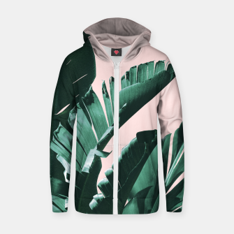 Thumbnail image of Banana Leaves Finesse #3 #tropical #decor #art  Reißverschluss kapuzenpullover, Live Heroes