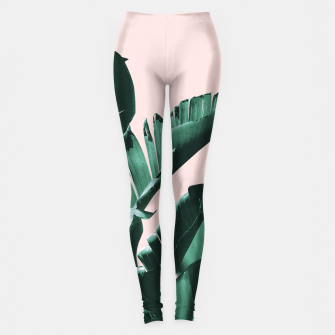 Thumbnail image of Banana Leaves Finesse #3 #tropical #decor #art  Leggings, Live Heroes