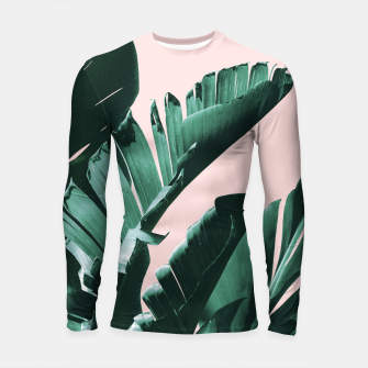 Thumbnail image of Banana Leaves Finesse #3 #tropical #decor #art  Longsleeve rashguard, Live Heroes