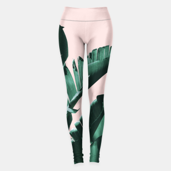 Miniatur Banana Leaves Finesse #3 #tropical #decor #art  Leggings, Live Heroes