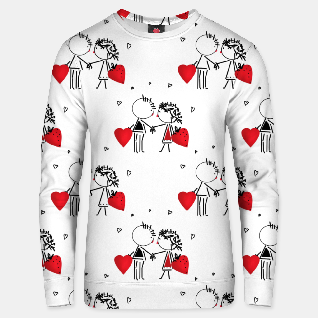 Image of Love Girl Boy Valentines Day feel relations cartoon fun Unisex sweater - Live Heroes