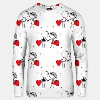 Love Girl Boy Valentines Day feel relations cartoon fun Unisex sweater thumbnail image