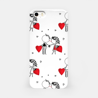 Thumbnail image of Love Girl Boy Valentines Day feel relations cartoon fun iPhone Case, Live Heroes