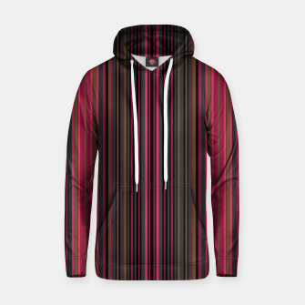 Thumbnail image of Multi-colored striped pattern magenta black brown lined patches Hoodie, Live Heroes