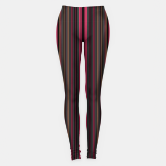 Thumbnail image of Multi-colored striped pattern magenta black brown lined patches Leggings, Live Heroes
