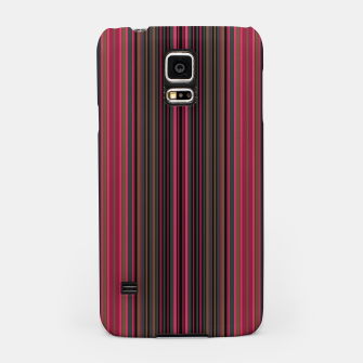 Thumbnail image of Multi-colored striped pattern magenta black brown lined patches Samsung Case, Live Heroes