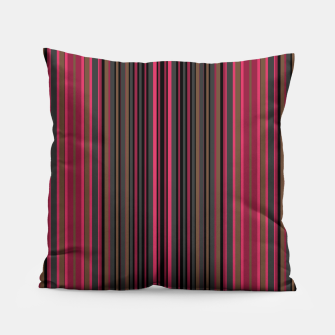Thumbnail image of Multi-colored striped pattern magenta black brown lined patches Pillow, Live Heroes