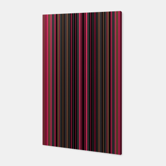 Thumbnail image of Multi-colored striped pattern magenta black brown lined patches Canvas, Live Heroes