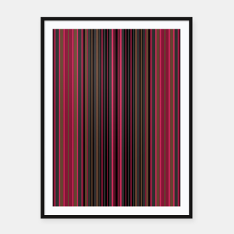 Thumbnail image of Multi-colored striped pattern magenta black brown lined patches Framed poster, Live Heroes