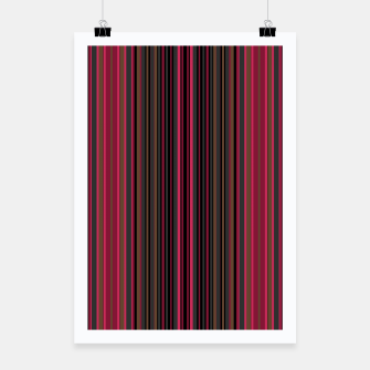 Thumbnail image of Multi-colored striped pattern magenta black brown lined patches Poster, Live Heroes