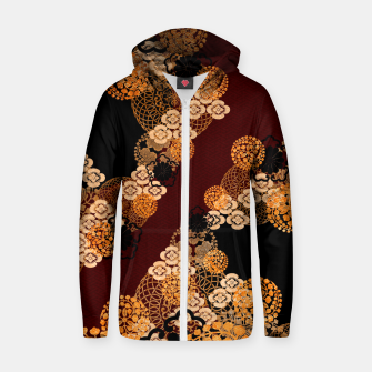 Japanese traditional family crest art Zip up hoodie thumbnail image
