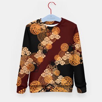 Japanese traditional family crest art Kid's sweater thumbnail image