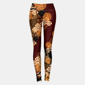 Miniatur Japanese traditional family crest art Leggings, Live Heroes