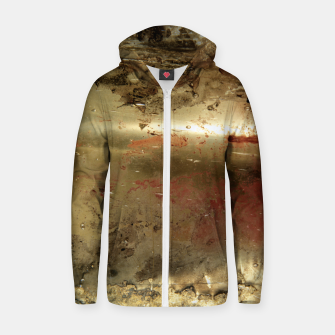 Thumbnail image of Golden grunge  Zip up hoodie, Live Heroes