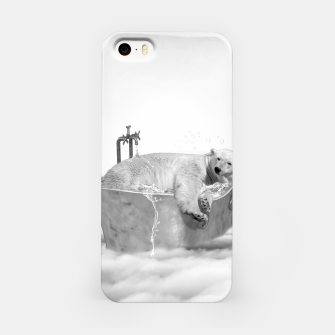 Miniatur POLAR BEAR BATH Carcasa por Iphone, Live Heroes