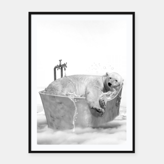 Thumbnail image of POLAR BEAR BATH Cartel con marco, Live Heroes
