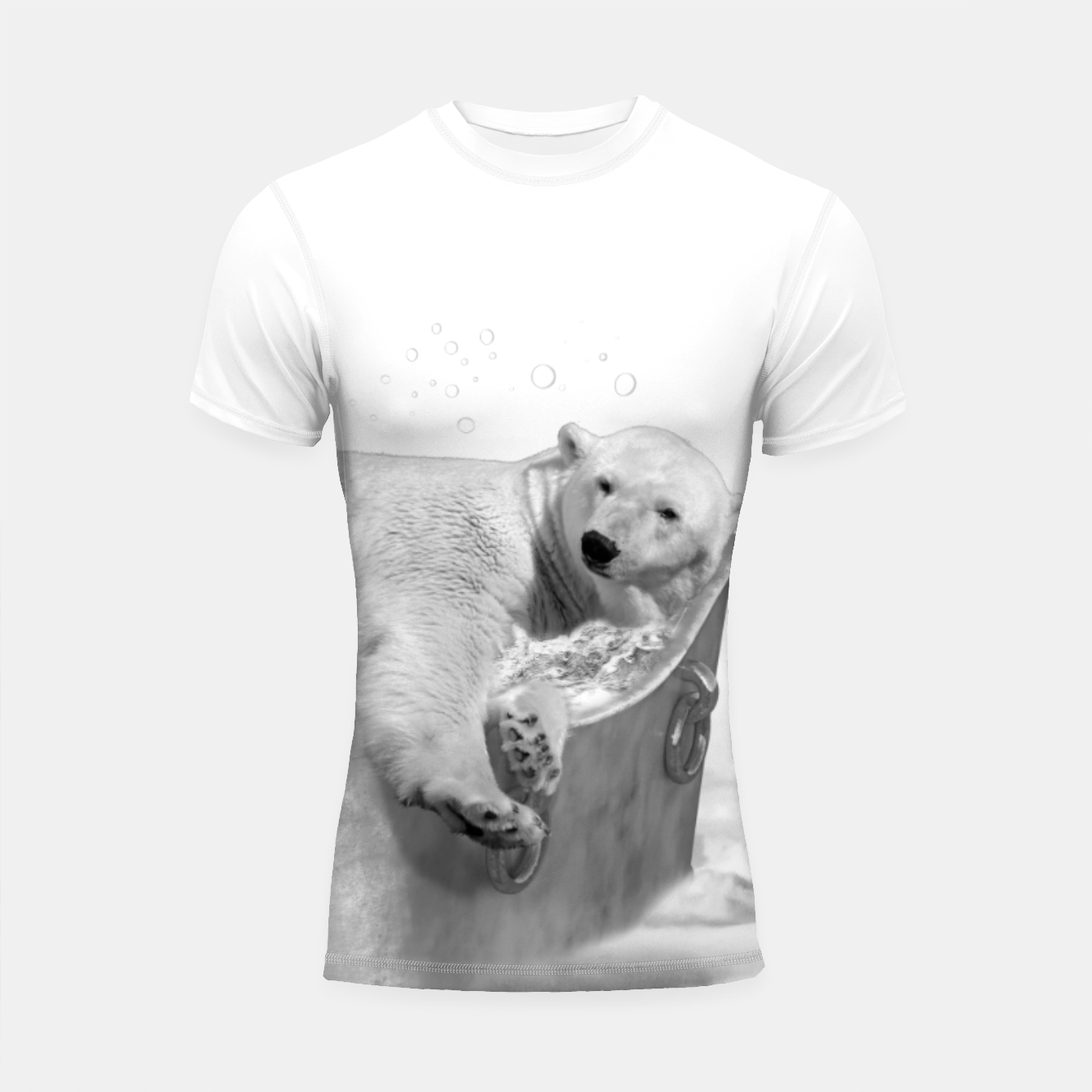 Image of POLAR BEAR BATH Shortsleeve rashguard - Live Heroes